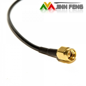 Male MCX to Male SMA pigtail cable, RG174