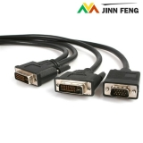 DVI-I Male to DVI-D Male and HD15 VGA Male Video Splitter Cable